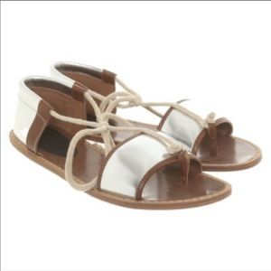 NWT Marni x H&M Silver Rope Sandals. Size 6